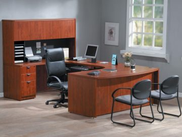 1470401009_1-LaminateOfficeFurniture-UShape-Cherry-95